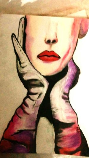 Art, Drawing, Creativity Crayons Soft Pastels Red Lips Elegance And Class