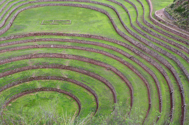 Complex of moray, where agricultural experimentations were made according to our guide