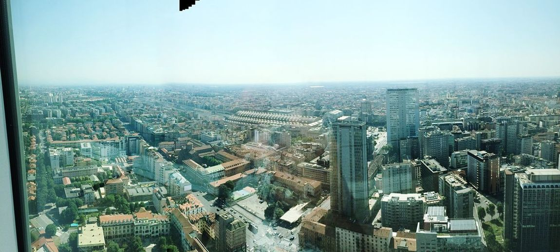 "Milan from ""top"". Top of building"
