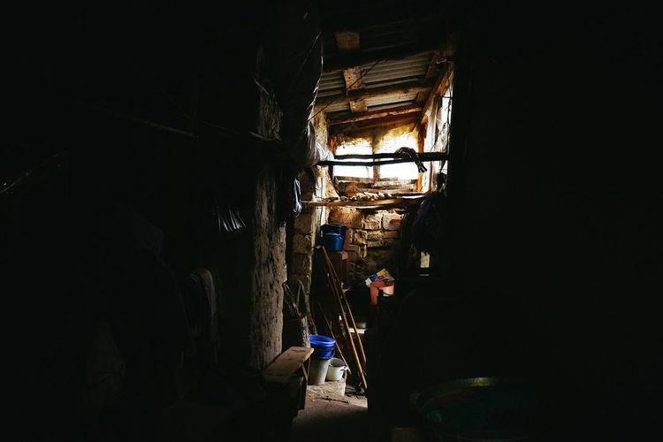 Man working in building