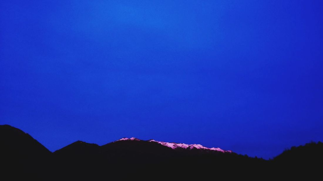 Blue Dream. Dream David Lynch Mountain Blue Blue Sky Night Outdoors No People Landscape Outdoors Nature Sky Beauty In Nature