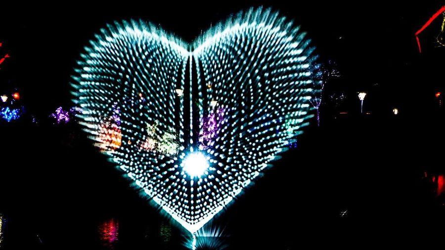 EyeEm Heart Water Llight Illuminated Heart Shape Night Celebration No People Outdoors Close-up