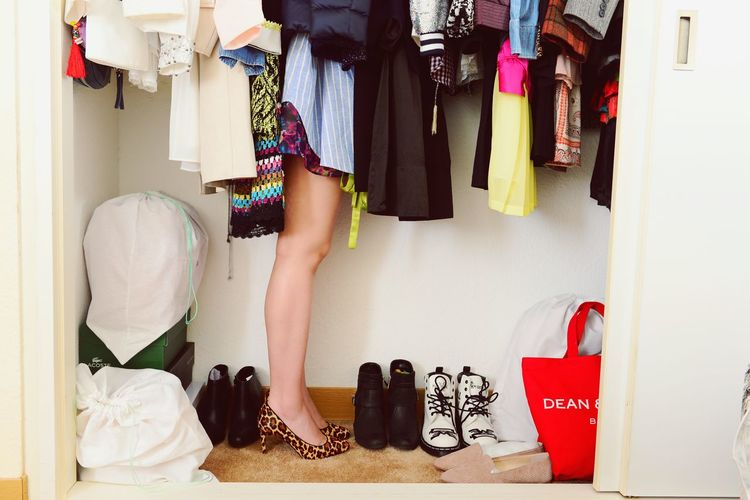 ThatsMe Self Portrait Clothing Hanging Choice One Person Shoe Fashion Variation Lifestyles High Heels Human Leg