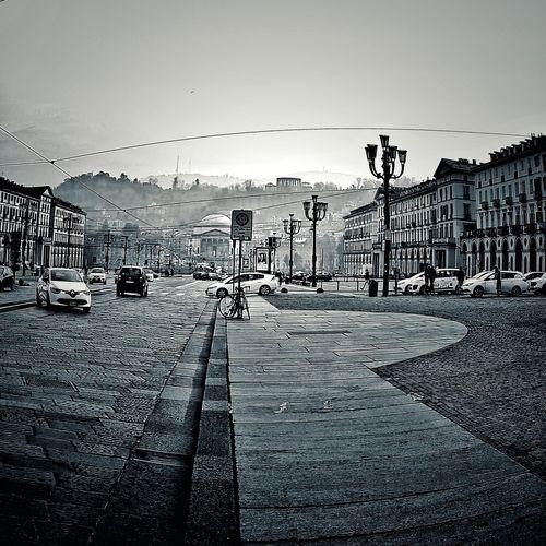 Blackandwhite Black & White Blackandwhite Photography EyeEm Selects Urbanphotography Torino Piazza Vittorio Veneto Piazza Vittorio Gran Madre Torino Outdoors Sky No People Day Bird Water Nature