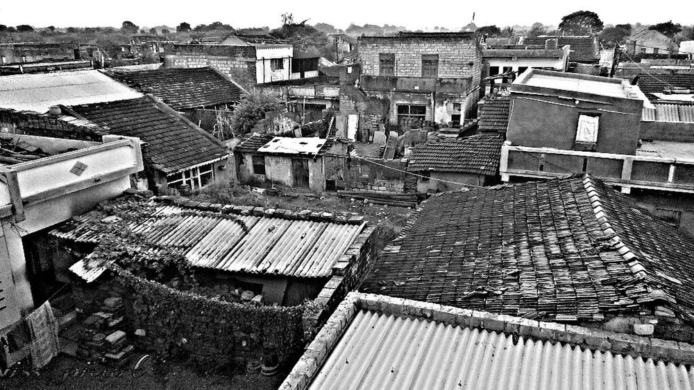 Black And White Photography Village Life Village View Oldhouse V4u