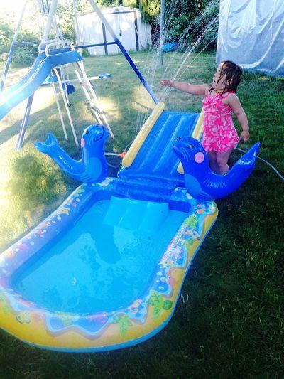 New Pool Toddler  Loving It