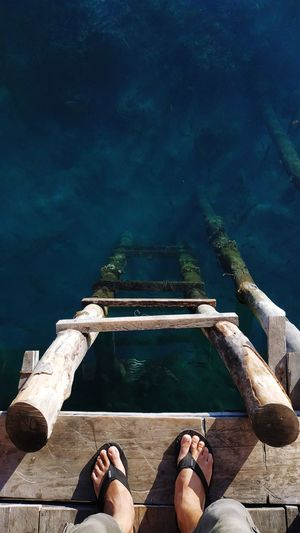 Fresh Start A New Beginning Low Section Water Swimming Pool Sea Relaxation Human Leg Summer Men Underwater Swimming Boat Pier Calm