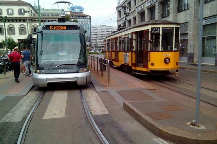 City Transportation Mode Of Transport Cable Car Tram Public Transportation City Life Milano Italy Milanocity Tramlines Tram Stop