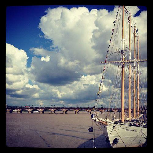 Let's go someplace new Negative Space Boat Bordeaux Travel Garonne River The Traveler - 2015 EyeEm Awards I Love My City