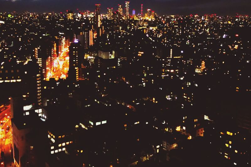 Night vlew Night Illuminated Cityscape City Building Exterior Skyscraper Architecture Outdoors No People Modern Growth Urban Skyline Sky