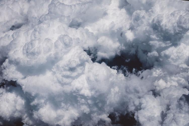 Clouds Clouds And Sky Sky Blue Blue Sky White White Clouds And Blue Sky Above The Clouds Above Airplaneview Free Freedom
