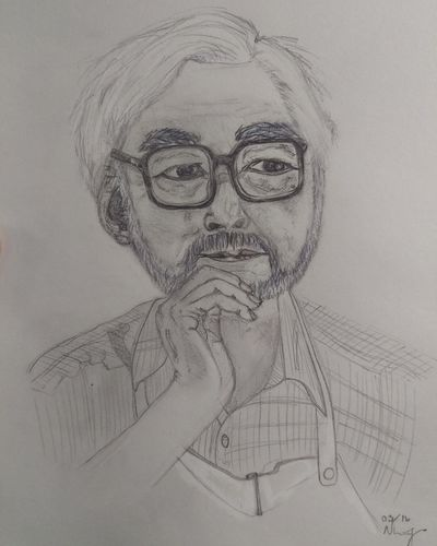 Feeling inspired from 'The Kingdom of Dreams and Madness' Sketchbook Portrait Prectice Sketch Pencil Drawing Studioghibli Hayao Miyazaki