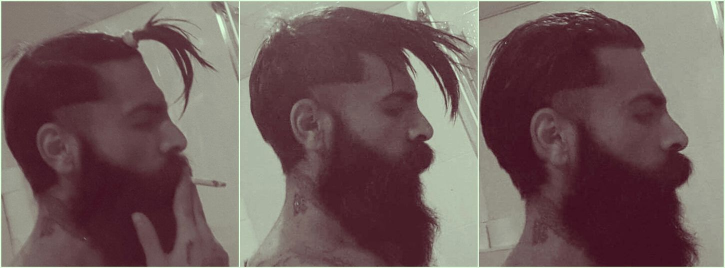 And it's over.. Haircut Haircut Time Photography Beard Beards Tattoo Tattoos Hairstyle
