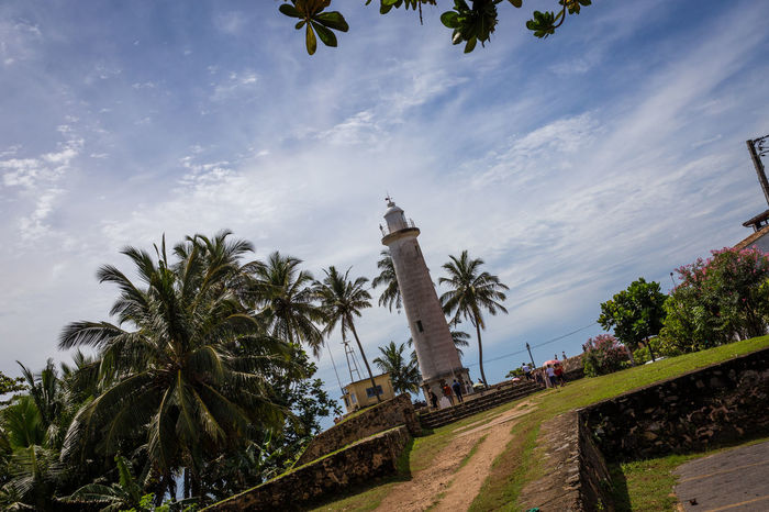 Lighthouse of Galle Fort, Sri Lanka Architecture Blue Sky Cityscape Clouds Famous Place Fort Galle Galle Fort Lighthouse Monument Nautical No People Outdoors Palm Tree Sky Sri Lanka Sri Lankan Tourism Travel Destinations