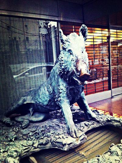 分かる人には分かる幸運の猪! まさか日本でお目にかかれるとは。フィレンツェが僕を呼んでいるのでしょうか…w
