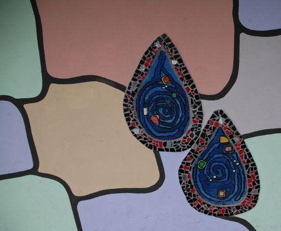 Mosaic teardrops Mosaic Teardrops Art Colorful Decoration Drawn No People Tears