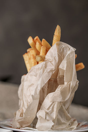 Close-up Crumpled Paper Day Fast Food Food Food And Drink Freshness Indoors  No People Paper Unhealthy Eating