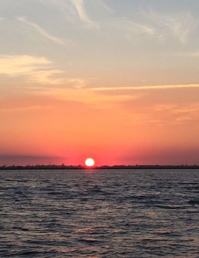 Sunset Scenics Beauty In Nature Tranquil Scene Orange Color Sky Blue Water Tranquility No People