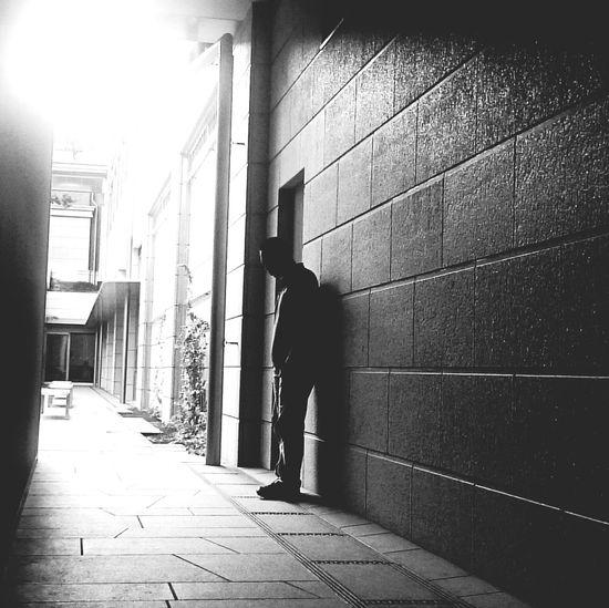 Blackandwhite Photoexperiment Selfmade Timerselfie