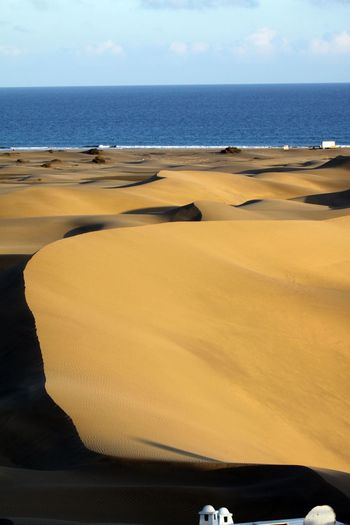 Gran Canaria Beach Beauty In Nature Cloud - Sky Day Horizon Over Water Landscape Nature No People Outdoors Sand Sand Dune Scenics Sea Sky Tranquil Scene Tranquility Water