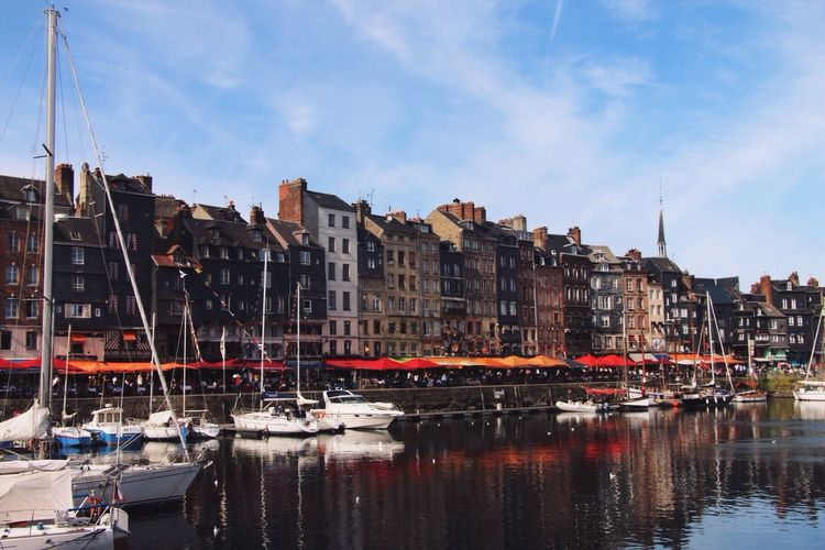 By the Sea Architecture Boat Water Waterfront France Honfleur Adventure Colorful Buildings Normandie