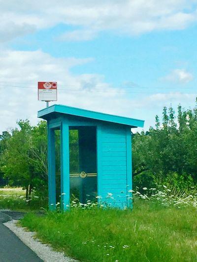 Cloud - Sky Bus Stop Sweden Swedish Summer Turquoise Ekerö Beuty In Summer