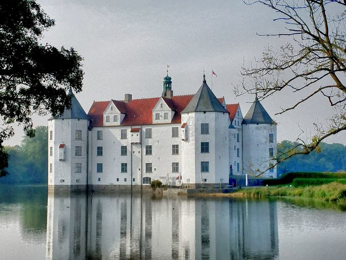 Architecture Building Exterior Built Structure Castle Castles Day House No People Outdoors Reflection Residential Building Sky Tree Water Waterfront