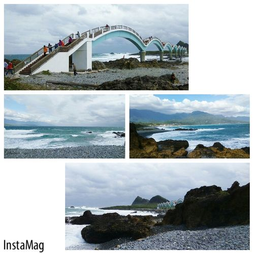 風好大~ 三仙台 八拱橋 三仙台八拱橋 成功鎮 台東 Taitung Water City Sea Beach Bridge - Man Made Structure Sky Architecture