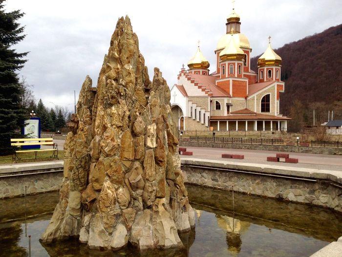Fountain Яремче Carpathians Карпаты