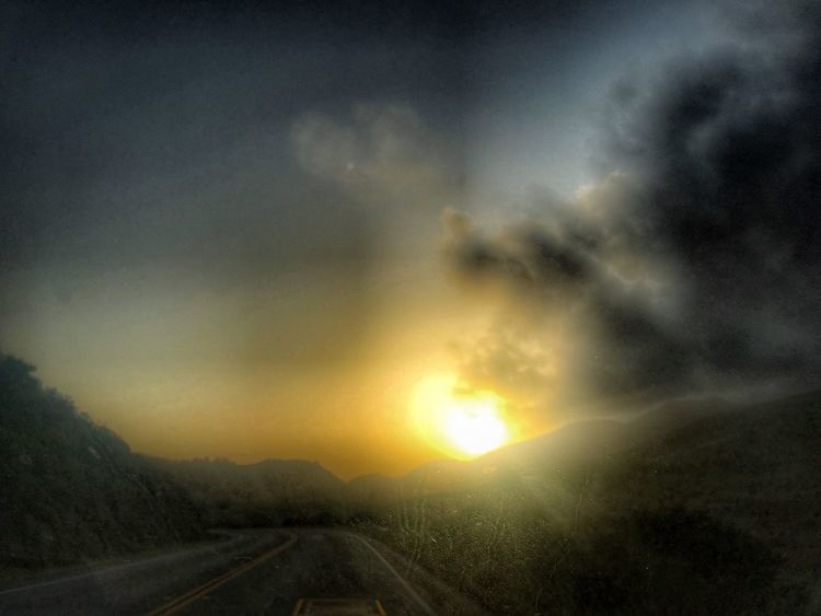 Cloud - Sky Sky Sunset Scenics - Nature Beauty In Nature Transportation No People