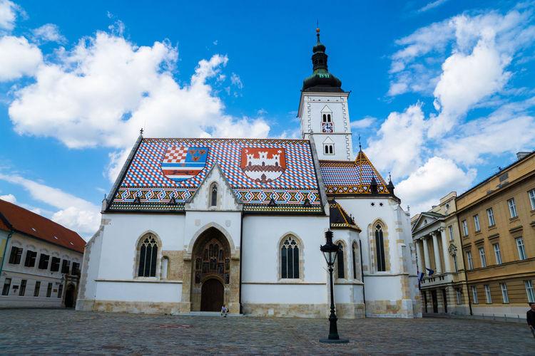 Exterior of st mark church against blue sky