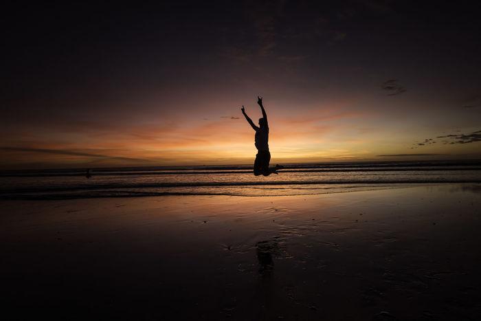 Brazil Travel Beach Jericoacoara Jumping Sea Sea And Sky Shore Sun Sunset Travel Destinations