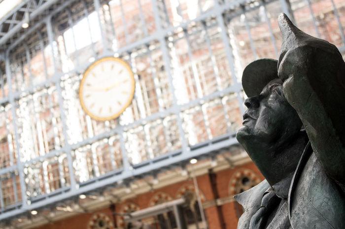 EyeEm LOST IN London St Pancras St Pancras Station Architecture Day Human Representation Sculpture Statue Postcode Postcards