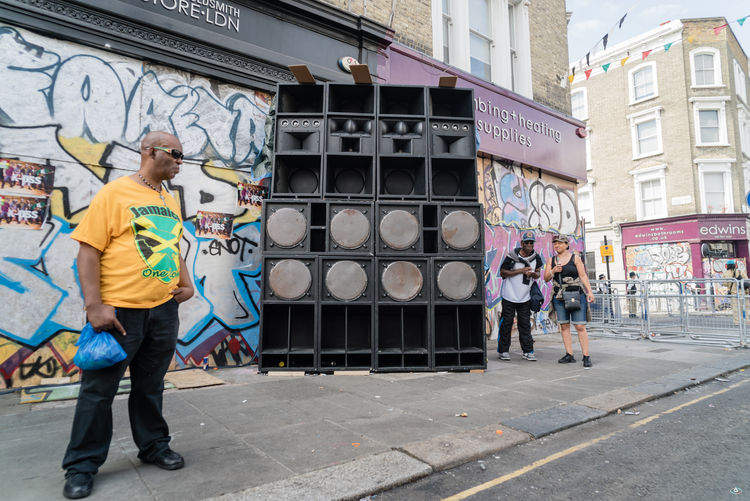 Notting Hill Carnival 2016 Architecture Building Exterior Built Structure Casual Clothing City City Life Day Front View Full Length In Front Of Outdoors Person Railroad Station Standing