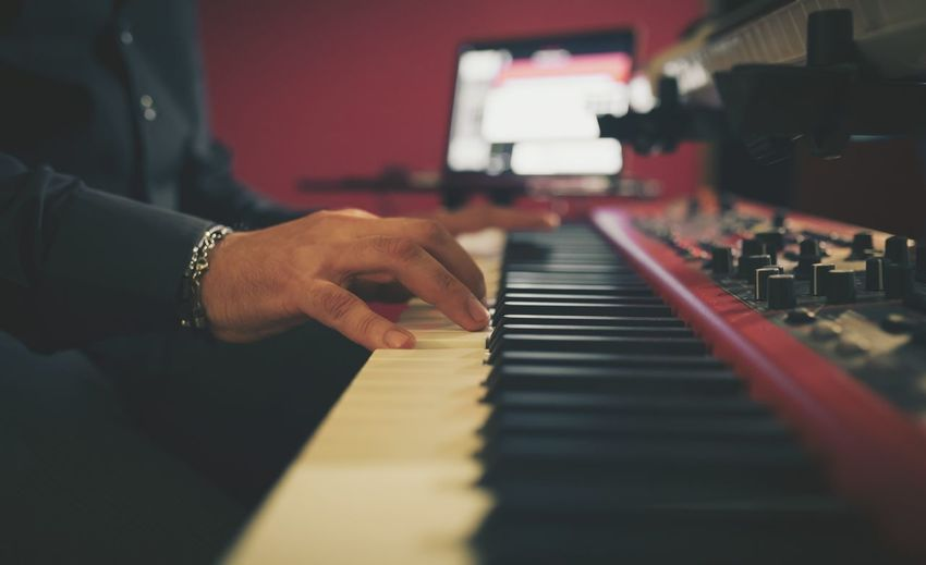 Music Musical Instrument Arts Culture And Entertainment Piano Close-up Human Body Part Human Hand Musician Low Angle View Rock Music Classical Music Playing Artist Music Nightlife Performance
