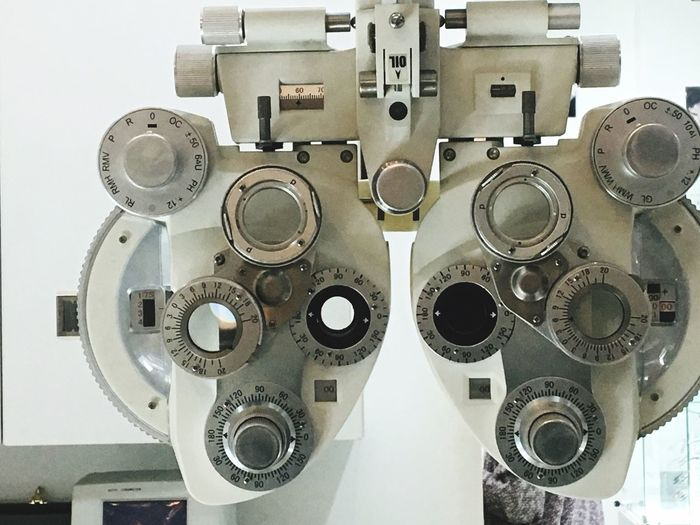 Eye Test Equipment Eye Exam  Optometrist Healthcare And Medicine Eyesight Medical Exam Low Angle View No People Technology Indoors  Close-up Science Day Ophthalmologist