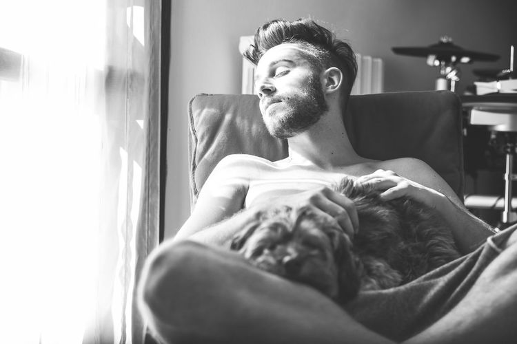 Dog Dog Love Dogs Of EyeEm Dogslife Home Indoors  Light People And Places Relax Relaxation Relaxing Relaxing Moments Sitting Sleep Sleeping Solitude Window Windowlight Young Adult