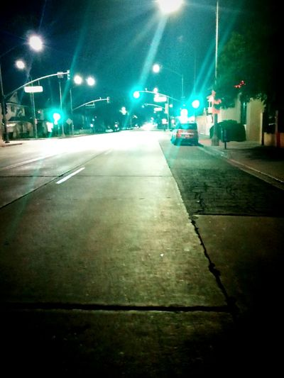 Illuminated Street Light Outdoors Street