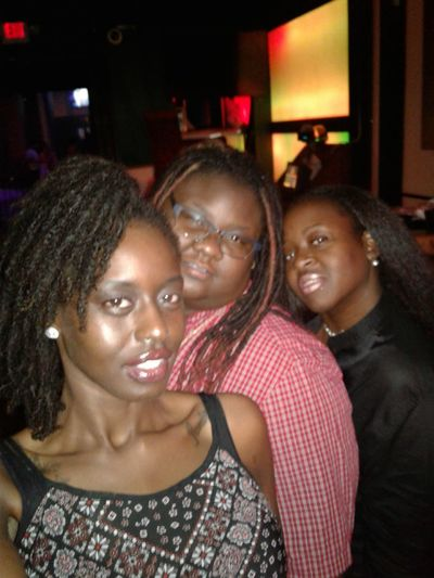 Togetherness Three People Friendship Looking At Camera Nightlife Adults Only Only Women Close-up Smiling Enjoyment Lesbian Love  Drunk Nights Facial Expression Happiness Dreadlocs Darksin Melanin Natural Hair Lips Lesbian Illuminated Beautiful Skin Party - Social Event Confidence  Standing