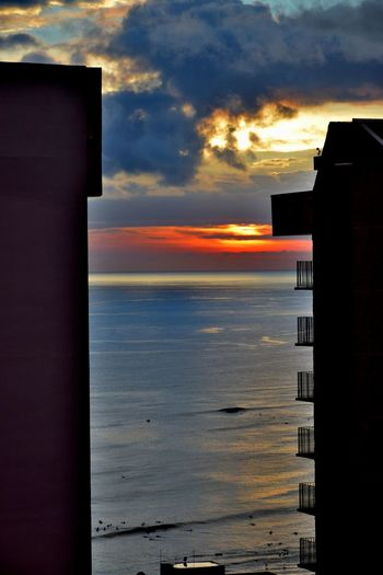 Adapted To The City Building Ocean Ocean View Sea Sea And Sky Sunset Water
