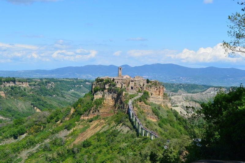 Architecture Built Structure Civita Di Bagnoregio Day History Mountain Nature Outdoors Scenics Sky Tree