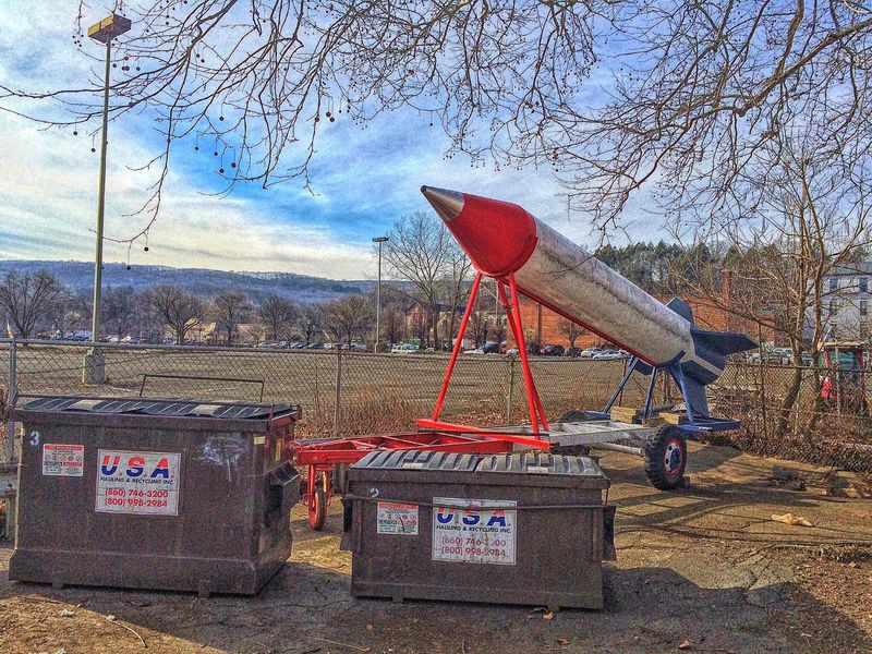 He went to jail for building it.. Naugatuck New England  Connecticut Ct USA Rocket Missile