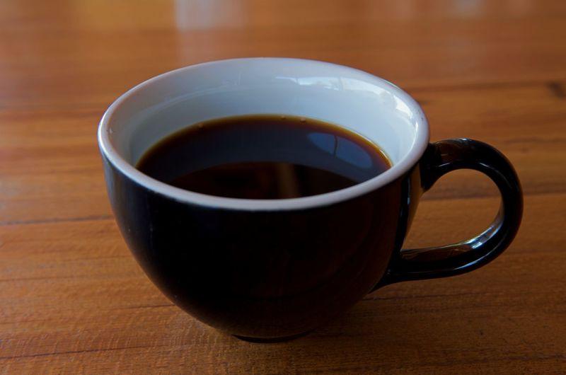 A black coffee
