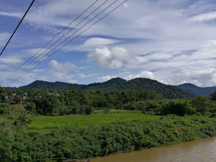 Long Tengoa Lawas Village view . Kampung Of Lun Bawang Community.