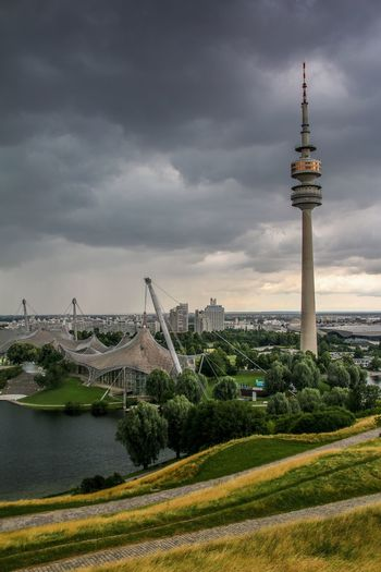 Olympic Park in Munich, Germany Architecture City Sky Travel Destinations Cloud - Sky Tourism No People Cityscape Outdoors Nature