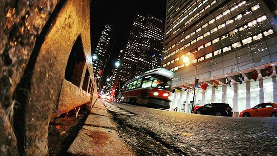 a rats point of view Toronto Viewsfromthe6 Tocompletestreets Streetsoftoronto The6 Photography Photographysouls Streetphotography Ttc The6ix Citynights City Perspective Streetview Citylights Cityscape Lifeofham