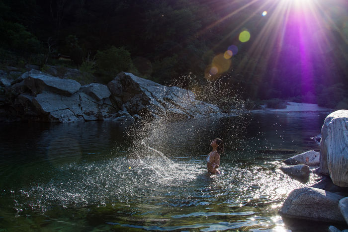 Fun Water Natural Pool Nature Scenics Summer Sun Rays Sunset People And Places The Magic Mission in River Vallemaggia My Year My View TCPM