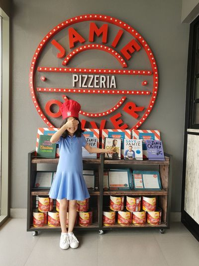 cook with love LittleChef Minichef Cook  Jamieoliver Pizza Time Pizza Restaurant Food Recipe Red Blue Ralph Lauren Small Business Heroes Full Length Retail  Text Red Chili Pepper Outdoor Cafe Display Signboard Pastry