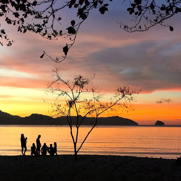 Sunset gazers... EyeEmNewHere First Eyeem Photo EyeEm Nature Lover El Nido Eyeem Philippines Eye4photography  Sunset_collection Silhouette Sunset Silhouette Nature Beauty In Nature Sky Sea Tranquil Scene Scenics Togetherness Beach