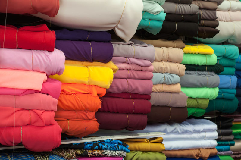 Diversity of Life Market No People Material Textile Industry Colours Diversity EyeEmNewHere Textile Street Market Textile Factory Fabric Cloth Shop Market Stall For Sale Shelves
